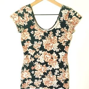 Garage Floral scoop neck blouse, S/P